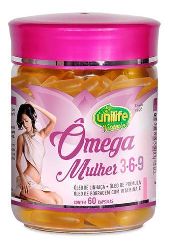 Omega 3-6-9 Mulher 1450mg 60 Cápsulas - Unilife