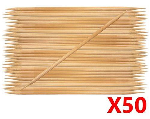 Palito Bambu Duas Pontas 50 Unidades - Santa Clara