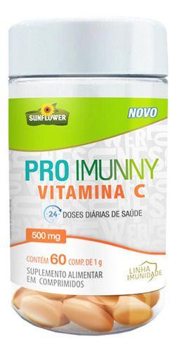 Vitamina C Pro Imunny 60 Comprimidos 1g - Sunflower