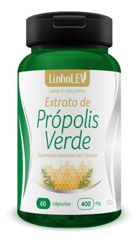 Extrato De Própolis Verde 400mg 60 Cápsulas - Linho Lev