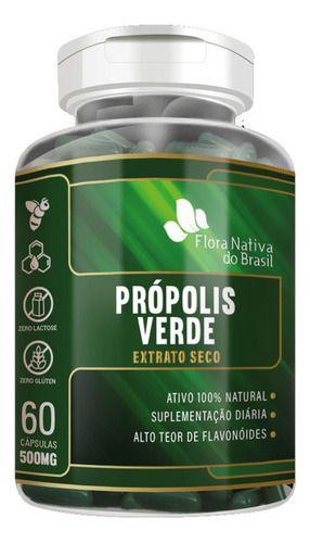 Própolis Verde 500mg 60 Cápsulas - Flora Nativa