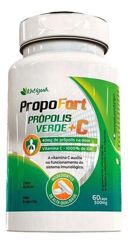 Própolis Verde E Vitamina C 500mg 60 Cápsulas - Katigua