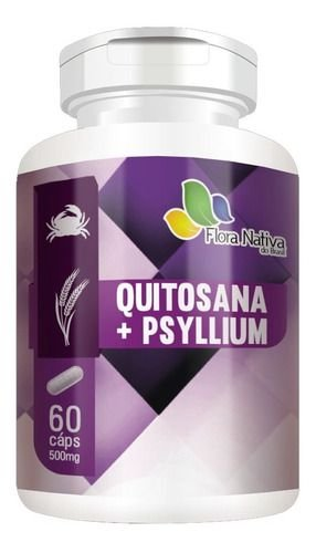 Quitosana E Psyllium 60 Cápsulas 500mg - Flora Nativa
