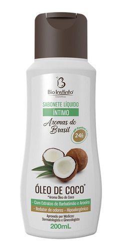 Sabonete Íntimo Líquido Óleo de Coco 200ml - Bio Instinto