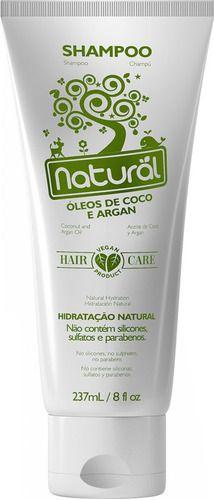 Shampoo Óleo De Coco e Argan 237ml - Natural