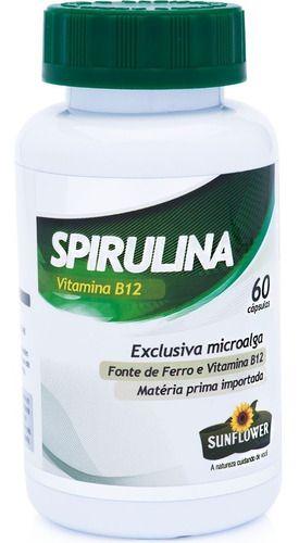 Spirulina 520mg 60 Cáps - Sunflower