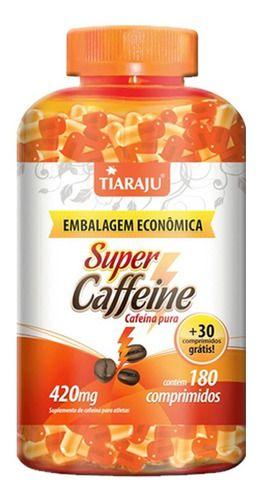 Super Caffeine Cafeína 210 Comprimidos 420mg - Tiaraju