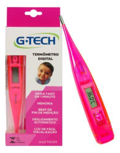 Termômetro Digital Rosa - G-tech
