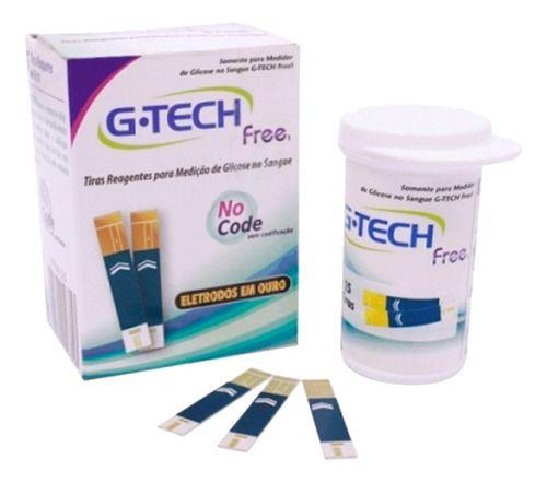 Tiras Reagentes Medição Glicose Free 50 Unidades - G-tech