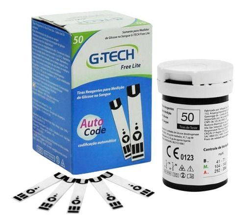 Tiras Reagentes Medição Glicose Lite 50 Unidades - G-tech