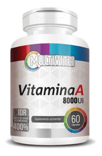 Vitamina A 8000ui 500mg 60 Cápsulas - Flora Nativa