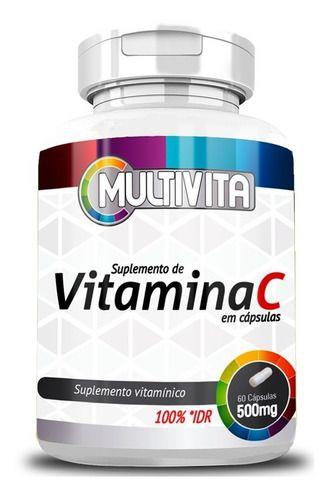Vitamina C Multivita 60 Cápsulas 500mg - Flora Nativa