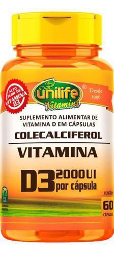 Vitamina D3 2000 Ui 470mg 60 Cápsulas - Unilife