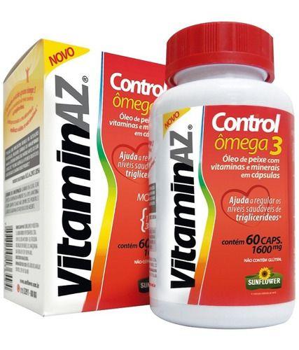 Vitamina Az Control Omega 3 1,6g 60 Cápsulas - Sunflower