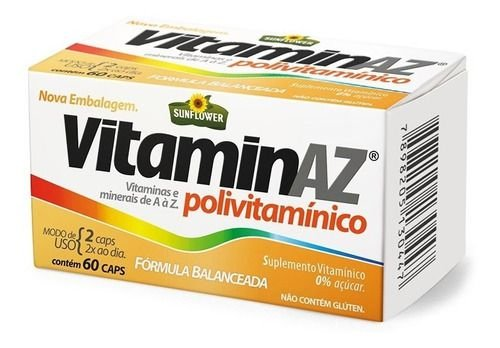 Multivitaminico Vitamin Az 750mg 60 Cápsulas - Sunflower