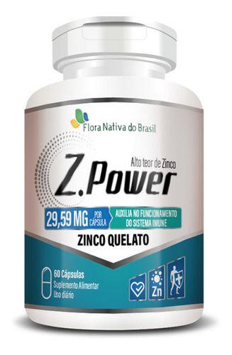 Zinco Quelato Z Power 500mg 60 Cápsulas - Flora Nativa