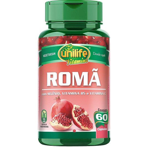 Romã Extrato 60 Cápsulas De 500mg - Unilife
