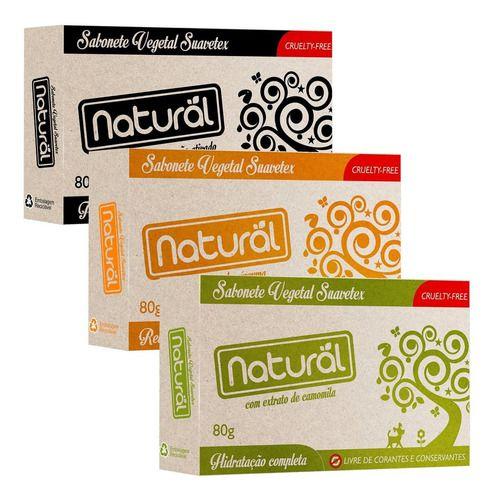 Sabonete Vegetal Vegano 80g Escolha A Sua Fragrância - Natural