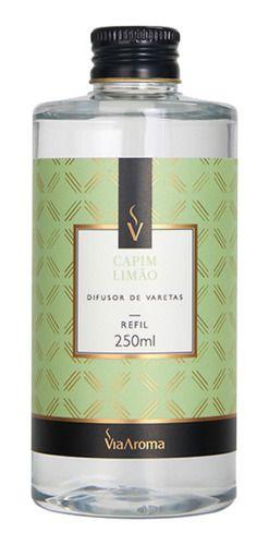 Refil Difusor Varetas Capim Limão 250ml - Via Aroma