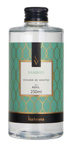 Refil Difusor Varetas Bamboo 250ml - Via Aroma