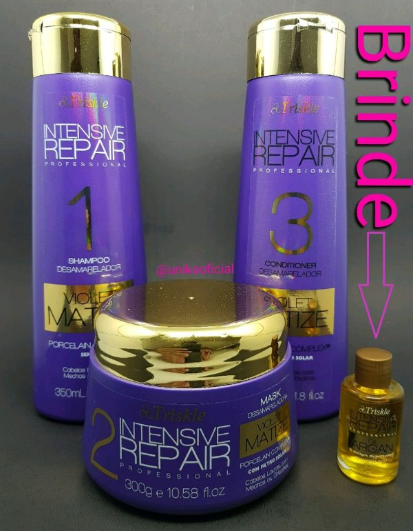 Triskle Kit Violet Matizer Tratamento Intensive Repair