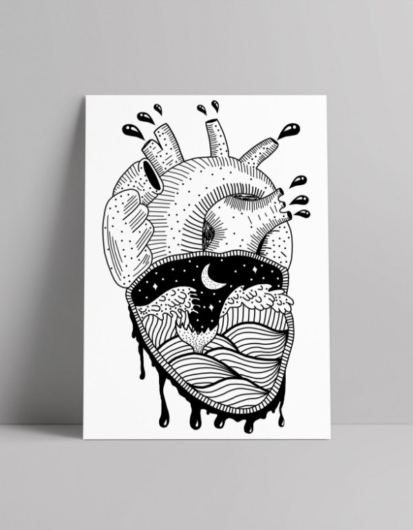 Poster Coração Agitado