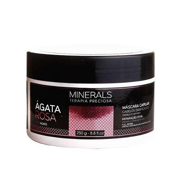 Máscara Minerals Ágata Rosa 250g Cabelos Danificados