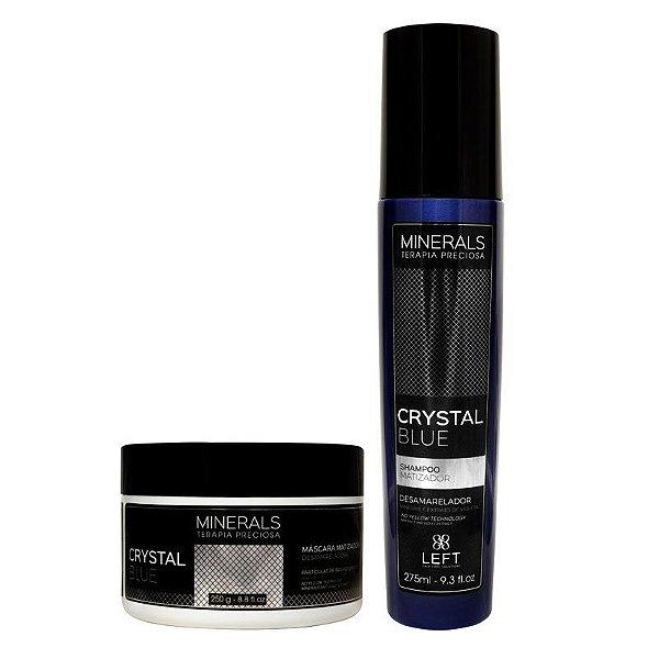 Kit Shampoo Matizador 275ml e Máscara Matizadora 250g Minerals Crystal Blue