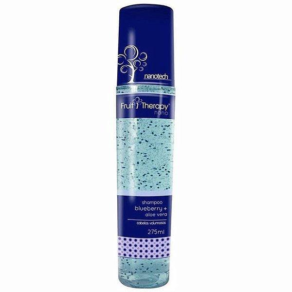 Shampoo Blueberry e Aloe Vera Fruit Therapy Nano 275ml Cabelo Volumoso
