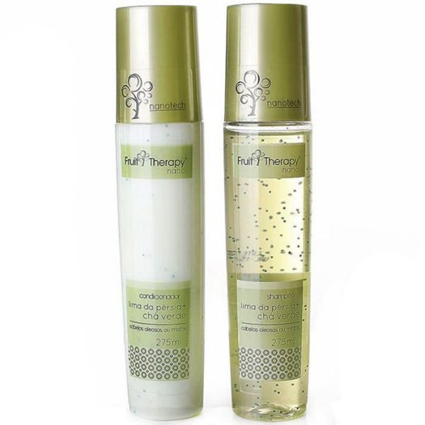 Kit Shampoo + Condicionador Lima da Pérsia e Chá Verde Fruit Therapy Nano 2x275ml Cabelo Oleoso ou Misto
