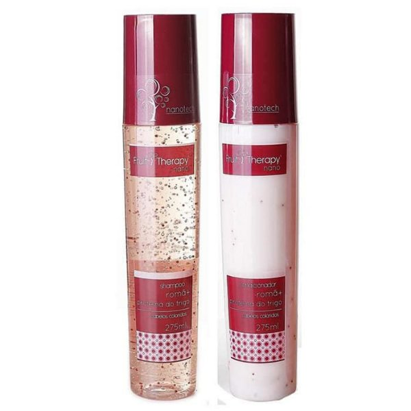 Kit Shampoo + Condicionador Romã e Proteína do Trigo Fruit Therapy Nano 2x275ml Cabelo Colorido