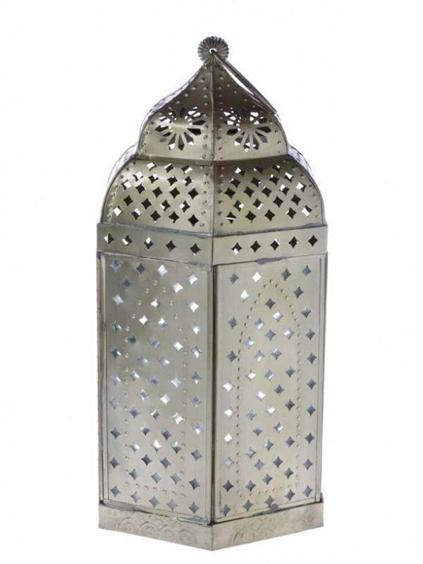 Lanterna Artesanal p/ decoração com velas - Kaiak 39cm