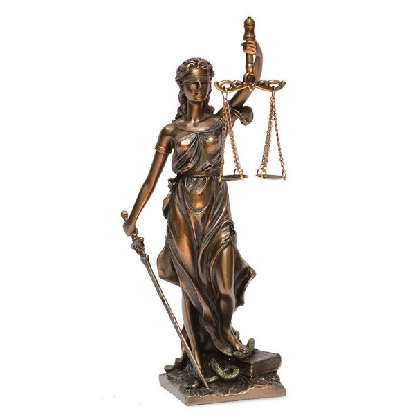 Escultura Deusa da Justiça em Resina