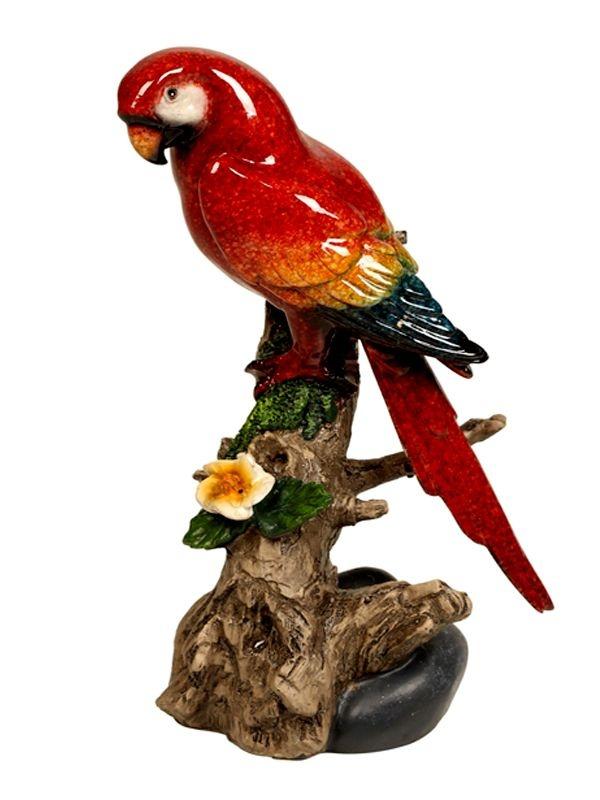 Escultura Pássaro em Cerâmica 17cm