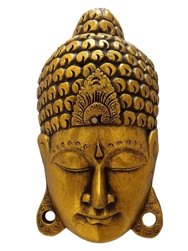 Cabeça de Buda em Madeira 30cm - Bali