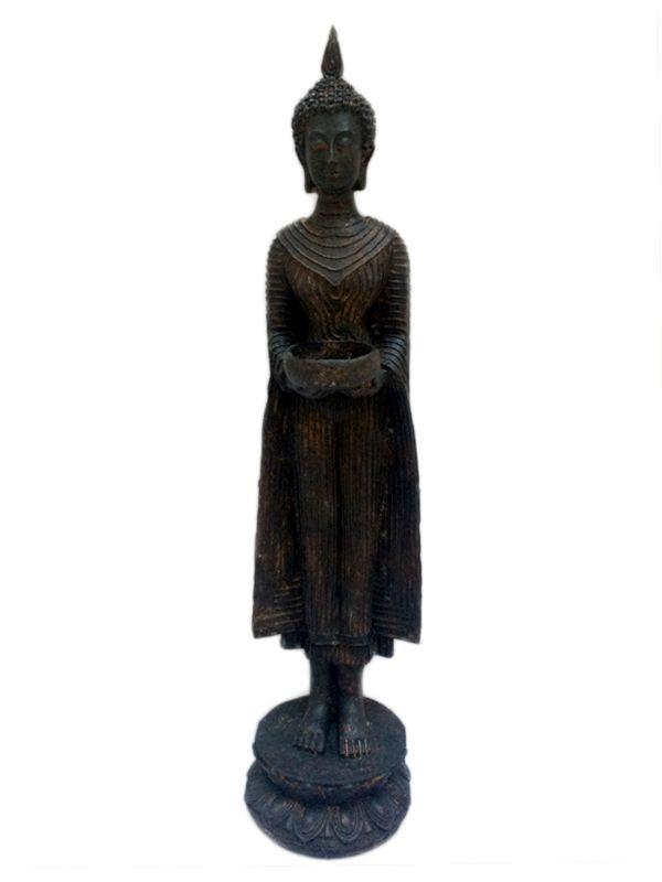 "Escultura de Resina ""Buda Tailândes"" 43cm"