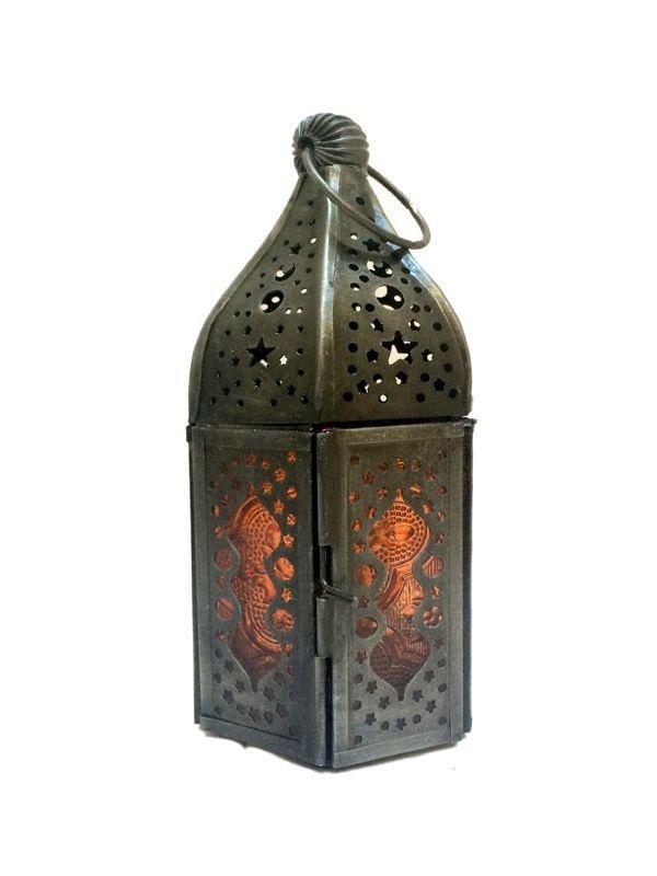 Lanterna Indiana Decoração Velas 14cm