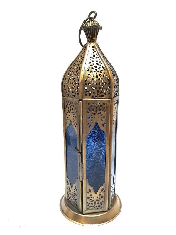 Lanterna Decorativa Marrakesh - Azul 22cm