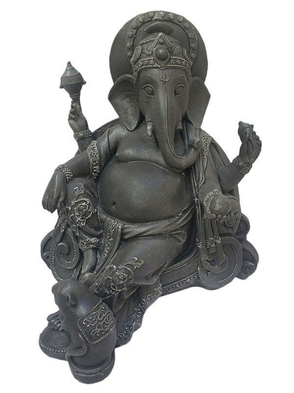 Escultura Ganesha em Marmorite - Hindu