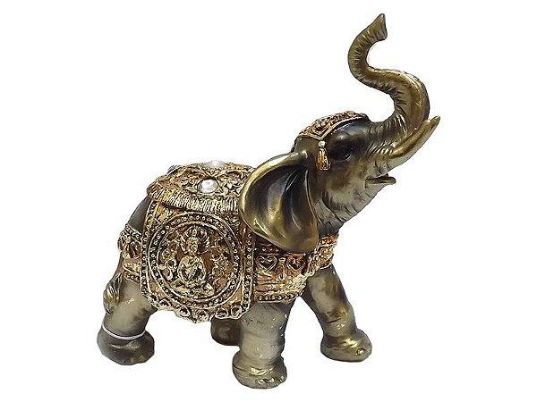 Elefante Indiano c/ Buda em Resina
