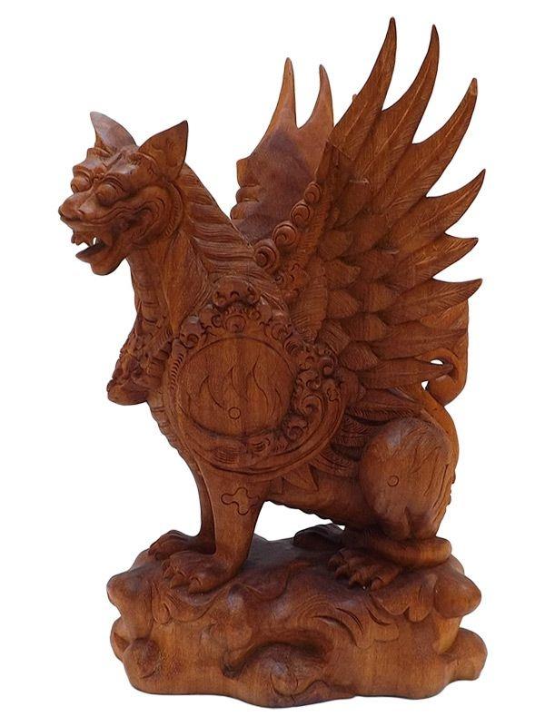 Escultura Garuda em Madeira 30cm - Relíquia
