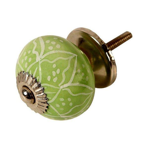 Puxador de Gaveta em Cerâmica Verde