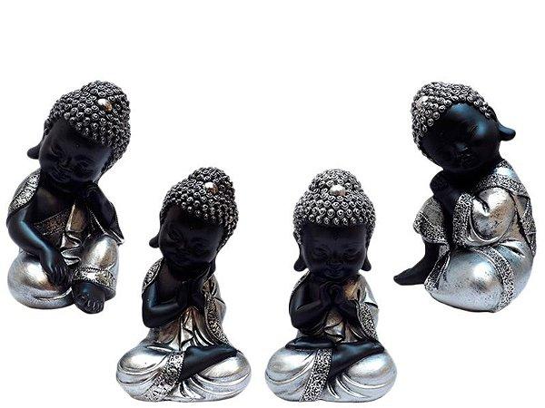 Monges Budistas em Resina - Kit 4un