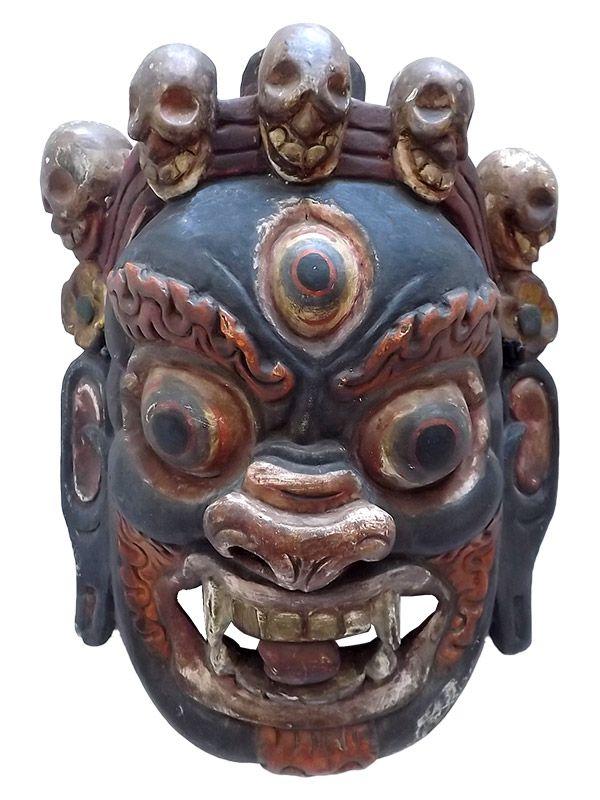 Máscara Tibetana Mahakala 40cm - Relíquia