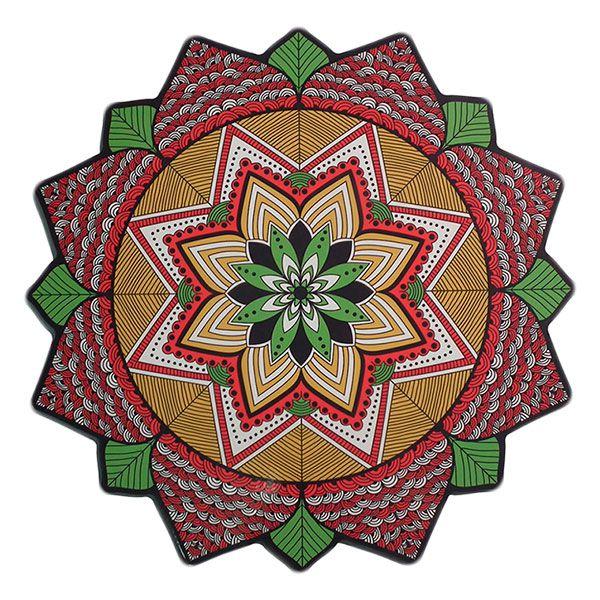 """Mandala """"Shakti"""" em MDF 38cm"""