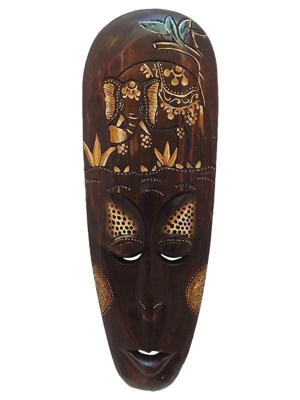 Máscara em Madeira Lombok Nature 50cm - Elefante