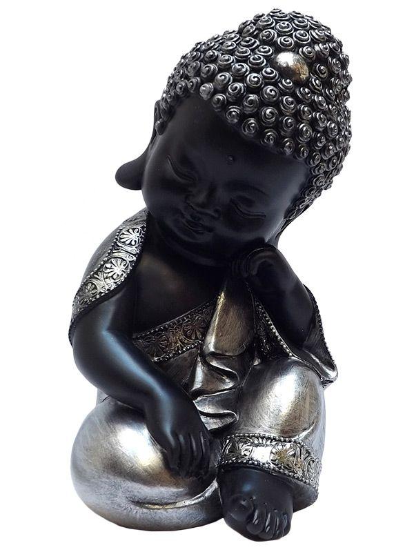 Monge Budista Relax em Resina 20cm