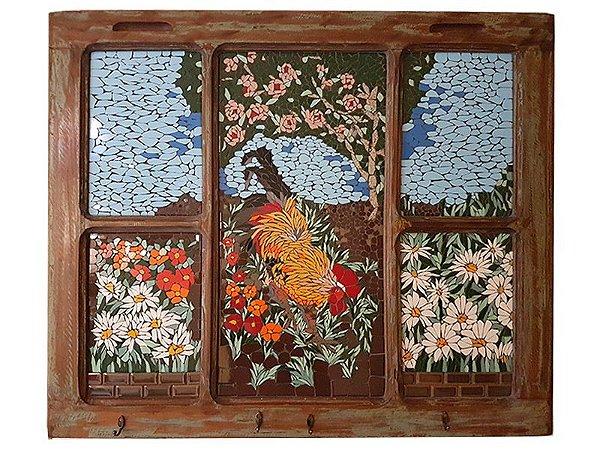 Painel Janela em Mosaico - Arte Exclusiva