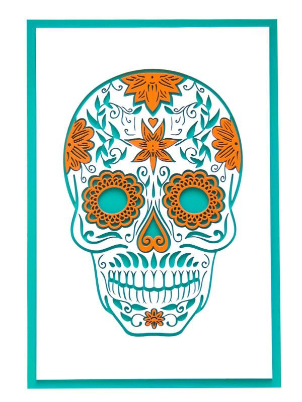 Placa Decorativa Caveira Mexicana