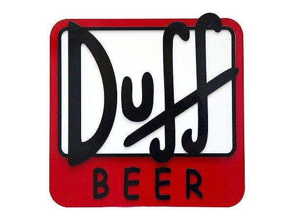 Placa Decorativa Duff Beer
